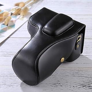HONGYUE Bolsa de Cuero de la PU de la cámara del Cuerpo Completo de for Nikon D3200 / D3300 / D3400 (Lente 18-55mm / 18-105mm) (Negro) (Color : Black)