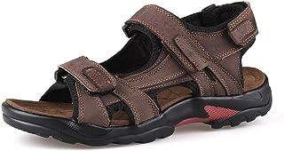 WUIWUIYU Men's Magic Strap Outdoors Gladiator Sandals