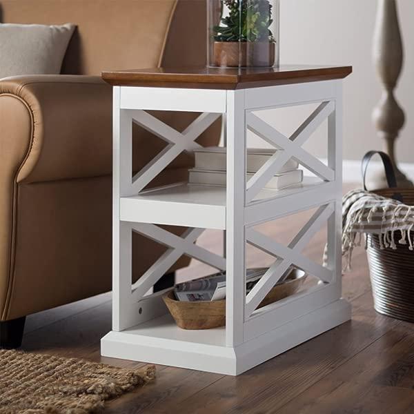 Belham Living Hampton Chair Side Table White Oak