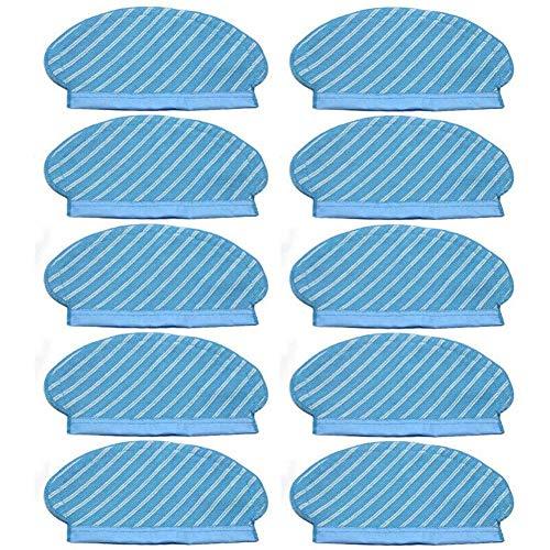 Nrpfell 10 StüCke Mopp Tuch Pads Set für Deebot Ozmo 920 950 Staub Sauger Teile Ersatz Wohnen Zubeh?R