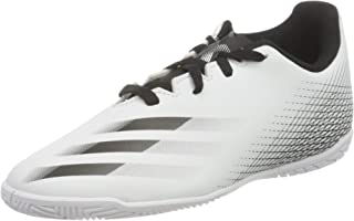 Adidas X Ghosted.4 IN J Lace-Up Two-Tone Football Shoes for Boys - White and Black