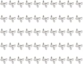 Concisea 50 stuks plankdragers voor het bevestigen van plankbouten, vloerdragers met neus, hoekplankdragers voor 5 mm gate...