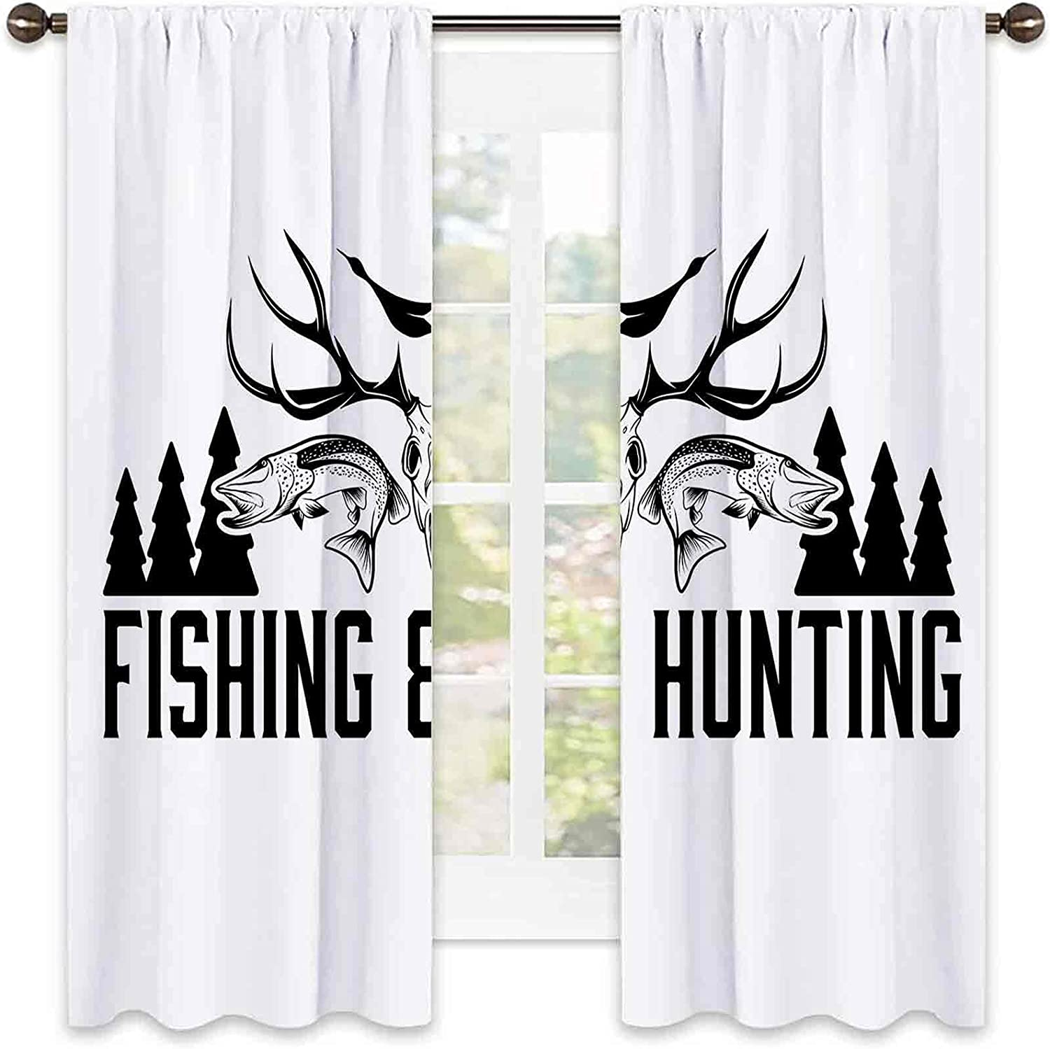 store Hunting Decor Shading Insulated Curtain Vin Product and Fishing