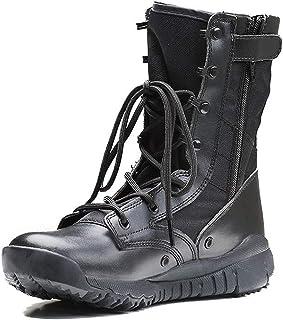 104b4fbde13 YongBe Boots/boot Hombres Botas de Combate Botas de Seguridad de Securtity  Patrol Táctico Cadete