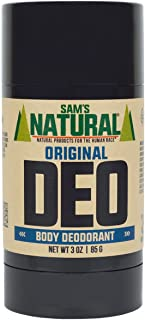 Sam's Natural Deodorant - Aluminum Free - No phthalates, parabens, sulfates, or dyes - Made in New Hampshire - For Men, Wo...
