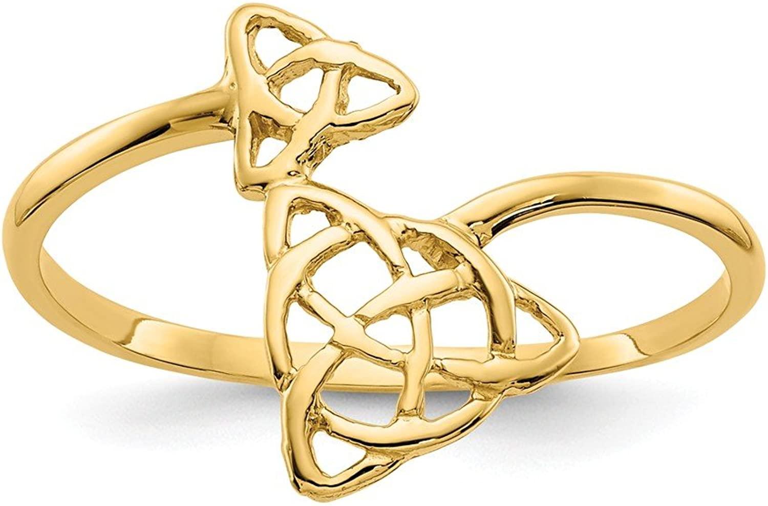 Yellowgold 14k Polished Celtic Knot Ring