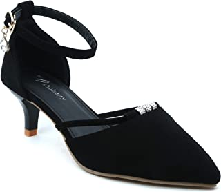 Shuberry SB-19047 Latest Footwear Collection, Comfortable & Fashionable Faux Leather in Black & Grey Colour Sandal for Women & Girls