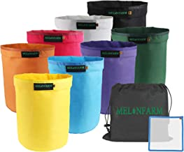 MELONFARM Bubble Bags 5-Gallon 8-Bag Set - Herbal Ice Bubble Hash Bag Essence Extractor Kit - Free Pressing Screen & Storage Bag Included