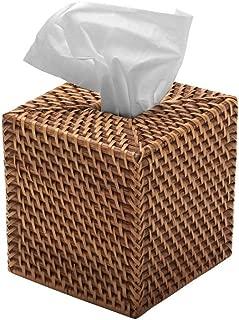 KOUBOO 1030017 Square Rattan Tissue Box Cover, 5.5