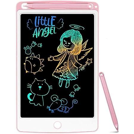 NOBES LCD Schreibtafel 8,5 Zoll Bunte Bildschirm, LCD Writing Tablet Schreibtafel für Kinder, Stift Papierlos für Schreiben Malen Notizen, Kinder Spielzeug Mädchen Jungen (Rosa)
