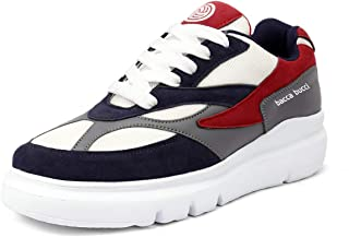 Bacca Bucci® Men's Urban Retro Blocked Fashion Sneaker/Sports for Walking, Party,Shopping,Running & Fun-Multi Color