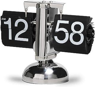Tischuhr Flip Uhr Retro Wecker Standuhr Schreibtisch Regal Design Uhr, Auto Flip Retro Tisch Uhren Metall, Europäischen Stil Dekoration Tischuhr