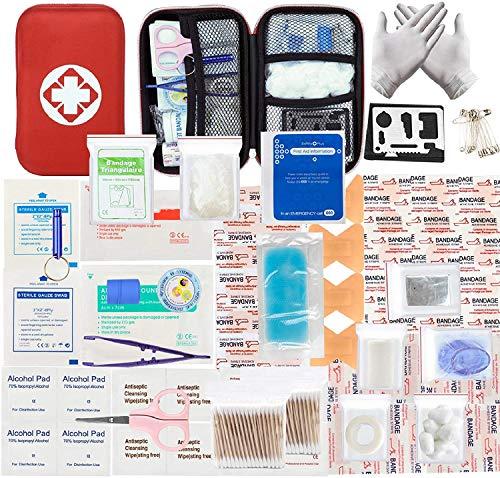 LISOPO 234pcs Erste-Hilfe Set Mini First Aid Kit Medizinisch Überlebens Kompakt Kit für Zuhause Auto Reisen Camping und Outdoor