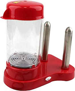 NRRN Machine à hot dog pour saucisses, machine à hot dog rétro avec conteneurs thermiques amovibles, chauffe-saucisses ave...