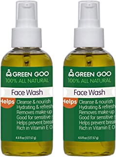 Green Goo Face Wash Large Bottle, 9 Ounces (Pack of 2)
