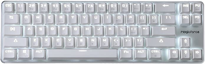 Gaming Keyboard Mechanical Wired Keyboard Cherry MX Red Switch Backlight Keyboard Mini Design (60%) 68-Keys White