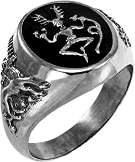 Sterling Silver Celtic Horned God Cernunnos Ring (Size 5-12)