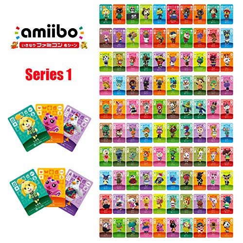 Series 1(001-100) Animal Crossing Card Flurry Kiki Octavian Bluebear Villager Character Amiibo Card for NS Game