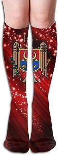 Compression Socks Coat Of Arms Of Moldova Girl Full Socks Long Socks Knee High Socks)