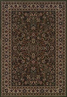 """Moretti Wesley Area Rug 213G8 Green Persian Flowers 6' 7"""" x 9' 6"""" Rectangle"""