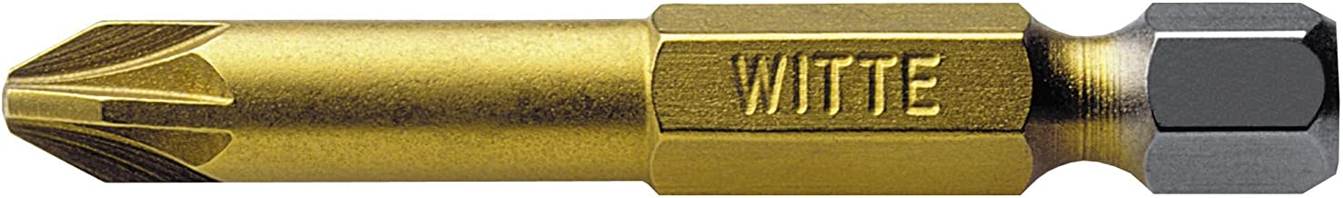 """""""Witte 27541 - Punta de destornillador de Nitruro de Titanio 1/4"""""""" Pz.1 x 50 mm"""", multicolor"""