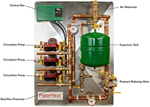 FloorHeat 3-Zone Preassembled Radiant Heat Distribution/Control Panel System