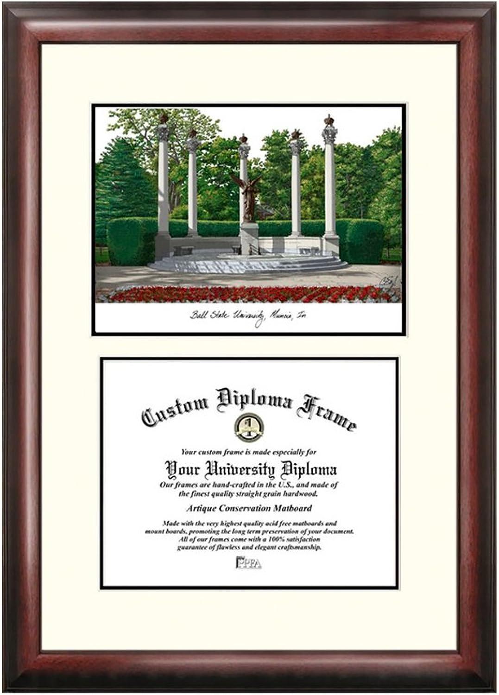 Ball State Cardinals University Scholar Diploma Frame