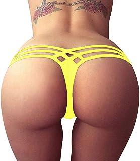 Mine Tom, Minetom Mujeres Bikini Tanga Brasileña Bikini Bottoms Bañarse Playa Ropa Interior Brasileno Playa Traje De Baño Atractivo