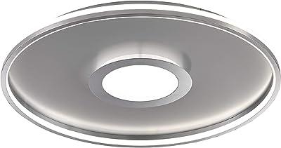 Fischer & Honsel Zoe 20612 Plafonnier LED 42 W Chromé/mat 3 niveaux d'intensité 60 x 60 x 7,5 cm