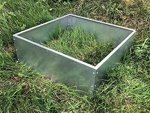 Indoor Outdoors Multipurpose Planter & Flower Bed Edging Panel | Galvanized Steel | 200 mm Tall