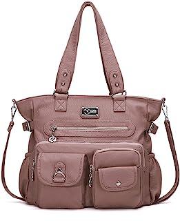 Handbags for Women Shoulder Purses Large Hobo bag, PU Washed Leather
