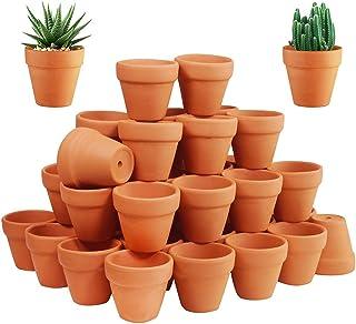 72 Pcs Small Mini Clay Pots - 2`` Terracotta Pot Ceramic Pottery Planter Terra Cotta Flower Pot Succulent Nursery Pots Great for Windowsill, Cactus Plant, Crafts, Wedding Favors Baby Shower