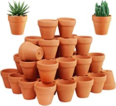 72 Pcs Small Mini Clay Pots - 2'' Terracotta Pot Ceramic Pottery Planter Terra Cotta Flower Pot Succulent Nursery Pots Gre...
