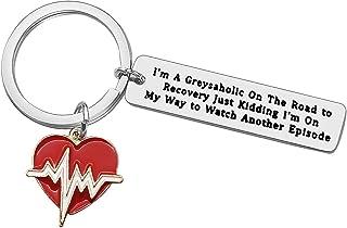Heartbeat Keychain Gift for Nurse Doctor Cute Keychain Greys Anatomy Fan Gifts Funny Keychain Charms Heartbeat Key Ring Mo...