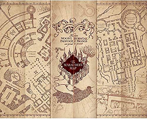 Puzzle di 1000 pezzi della mappa del malandrino di Ha-rry Pot-ter
