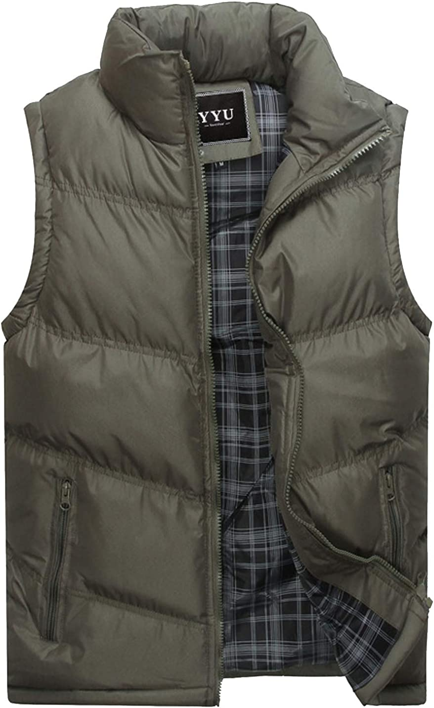 Flygo Men's Casual Quilted Puffer Lightweight Vest Gilets Sleeveless Jacket Coat