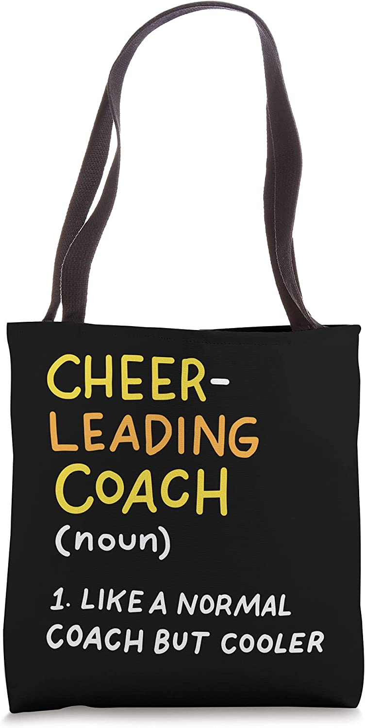 Funny Cheerleading Coach Defenition Cheer Coach Tote Bag