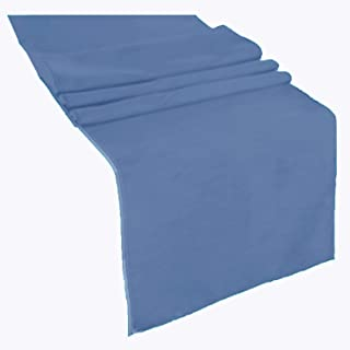 runner linens Table Runner 14x108 Inches Ideal for Wedding, Baby Shower, Home, Restaurant, Party Rental Factory (Steel Blue)