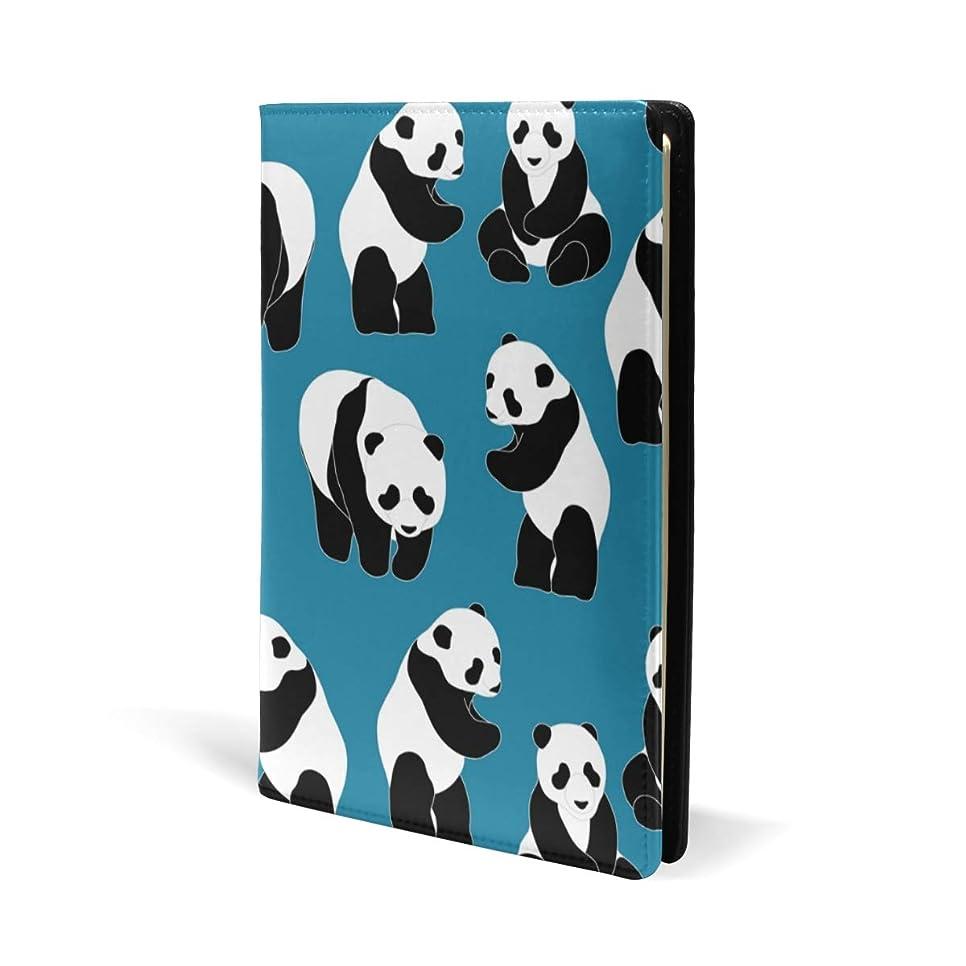 ほとんどの場合フラスコ委任するブックカバー a5 パンダ ブルー きれい 文庫 PUレザー ファイル オフィス用品 読書 文庫判 資料 日記 収納入れ 高級感 耐久性 雑貨 プレゼント 機能性 耐久性 軽量
