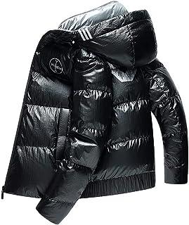 Tasahaya ダウンコート メンズ ダウンジャケット 防寒着 白ダウン ショート丈 暖かい アウトドアウエア フード付き 20代30代40代