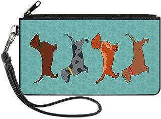Junior's Canvas Coin Purse Dachshund Dog, Multicolor, 4.25