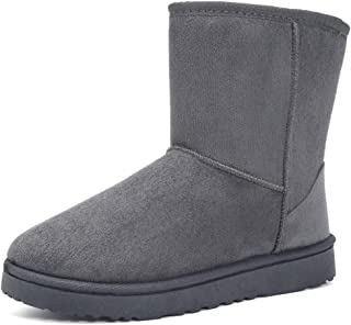 MOERDENG Women's Ankle Boot Winter Outdoor Slip On Warm Snow Boots
