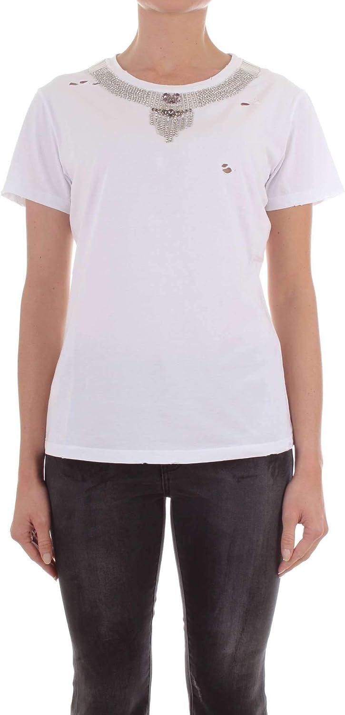 PINKO Women's 1W113UY47VZ04 White Cotton TShirt