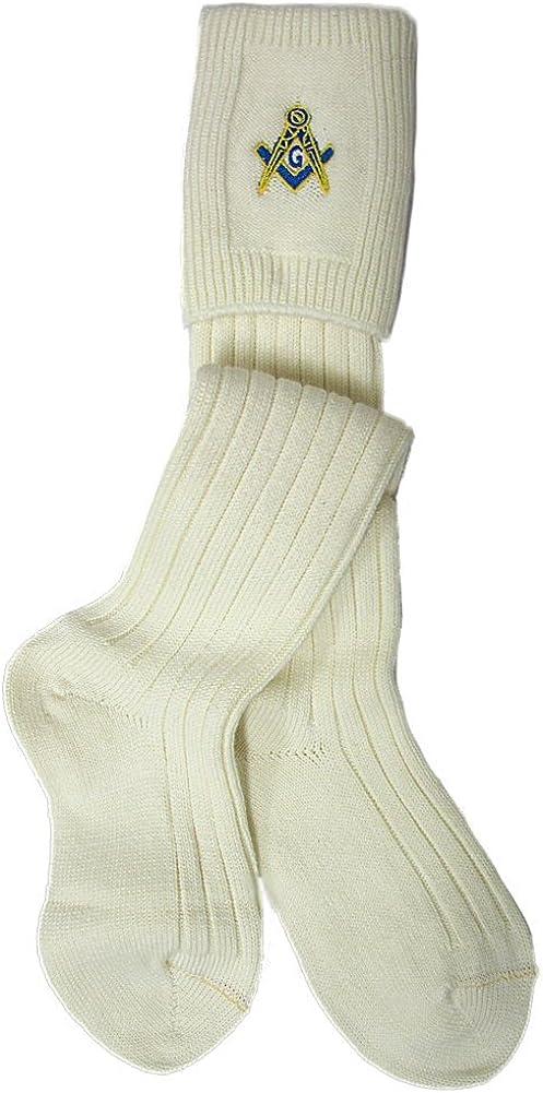 Gleann Righ Mens Masonic Socks Hose Kilt High order Wool Time sale