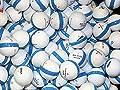 50 Premium Assorted Blue Striped White Range Practice Golf Balls