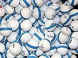 100 Premium Assorted Blue Striped White Range Practice Golf Balls