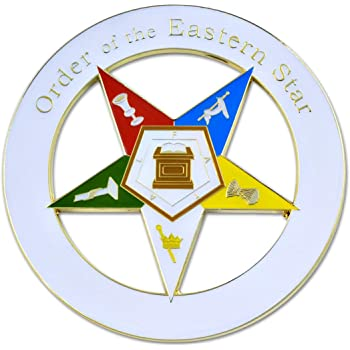 3 OES Cutout Car Decal The Masonic Exchange TME-EMB-00110-2