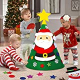 OurWarm 3D DIY Felt Christmas Tree Set with DIY Ornaments, Creative Xmas Gifts New Year Christmas Decorations for Toddlers Kids Children with Gift Bag