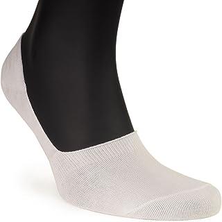 ALL ABOUT SOCKS, Calcetines invisibles hombre (Pack de 5) - Antideslizante & Algodón suave - Tiras de silicona - Calcetines cortos blancos y negros