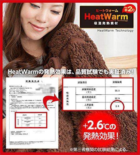 Heat Warm 発熱あったか 敷パッド ダブル アイボリー 40230308